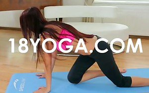 Yoga Legal age teenager Paula Shy Anal Ass Screwed By BF