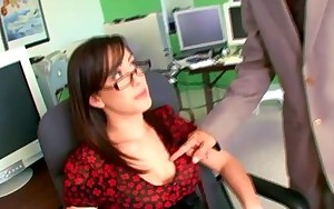 Hawt secretary receives fucked by her boss