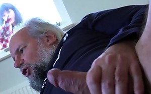 Old man caught wanking during the time that watching porn