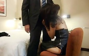 Oriental rookie secretary abased for her boss