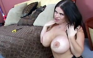 This giant breasted milf is getting screwed