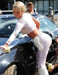 Hard body juicy asses bending over and clad in shiny..