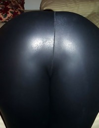 Hard body moist asses bending over and clad in shiny tight..