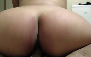 Flawless Ass Amateur Latin chick Rides Your Large Jock POV