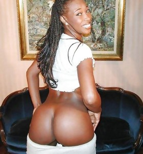 Fat and swarthy african huge booties