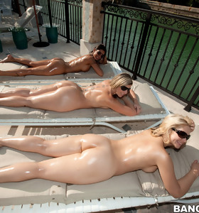 Corpulent valuable bums of Sara Jay, Spicy J and Sarah Vandella. Those 3 fine porn stars exposed all. those cuties put such a show on for Champ this chab could hardly keep from spraying his cum all over the place.